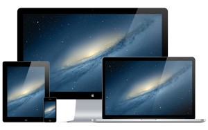 Thunderbolt iPad Retina Mockup iPhone MacBook Pro PSD