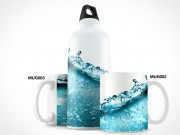 Thermos Water Bottle PSD Mockup Template
