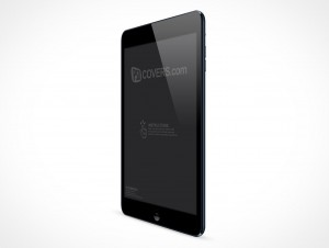PSD Mockup Black Angled iPad Mini