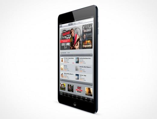 PSD Mockup Black Angled iPad Mini