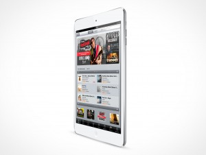 PSD Mockup White Angled iPad Mini
