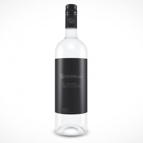 PSD Mockup Glass Water Bottle With Lable
