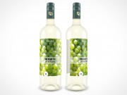 PSD Mockup Glass White Wine Bottle