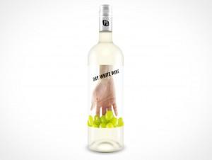 PSD Mockup Vodka or Light Wine Bottle
