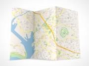 PSD Mockup 3 Panel Tri Fold Brochure map