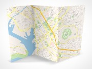 PSD Mockup 3 Panel Tri Fold Brochure map