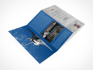 PSD Mockup 3 Panel Tri Fold Brochure Travel Tourism