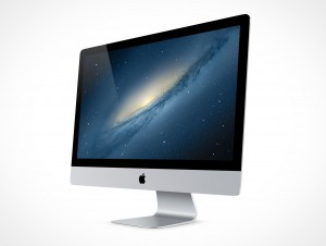 Apple iMac Cinema Display 27in PSD Mockup Action