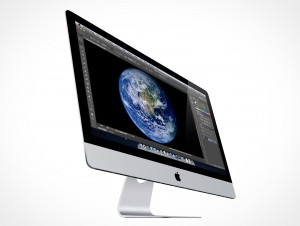 Apple iMac Cinema Display 27in PSD Mockup Action