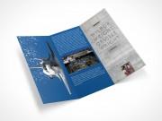 PSD Mockup 3 Panel Tri Fold Brochure Horizontal Flyer Leaflet 8.5x11