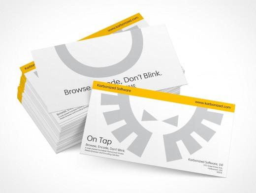 PSD Mockup Template Business Card Corporate