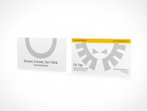 PSD Mockup Template Business Card Stack