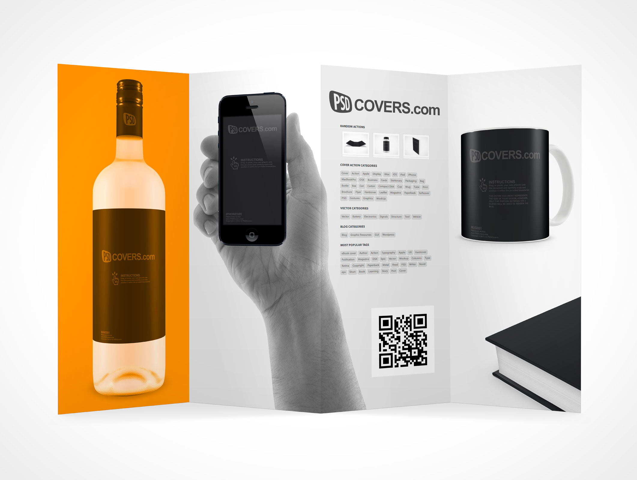 FLYER Market Your PSD Mockups For Flyer - Accordion brochure template