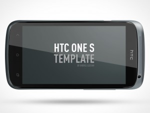 PSD Mockup Android HTC One S Landscape Template