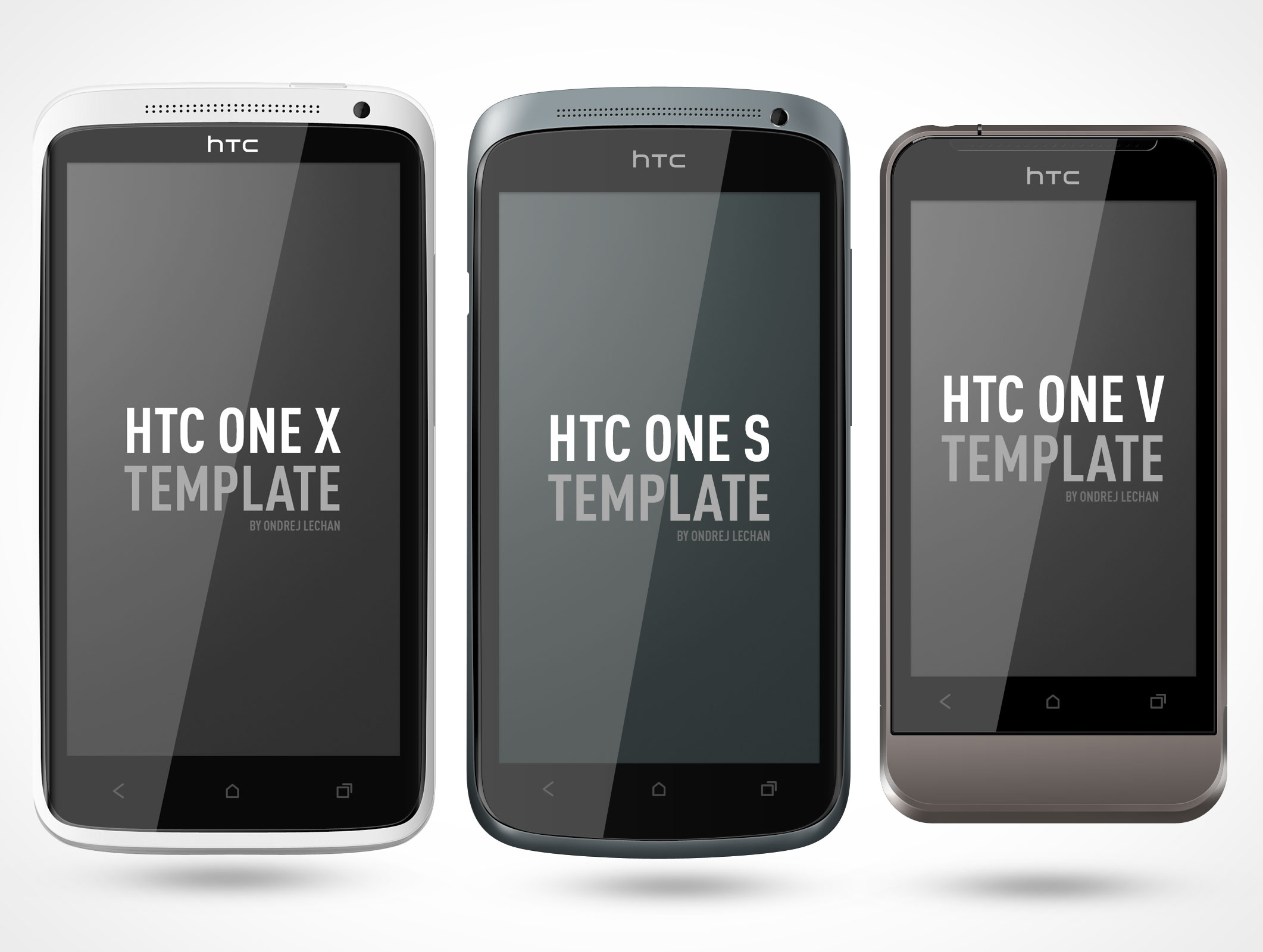 Htc One Android Smartphone Mockup