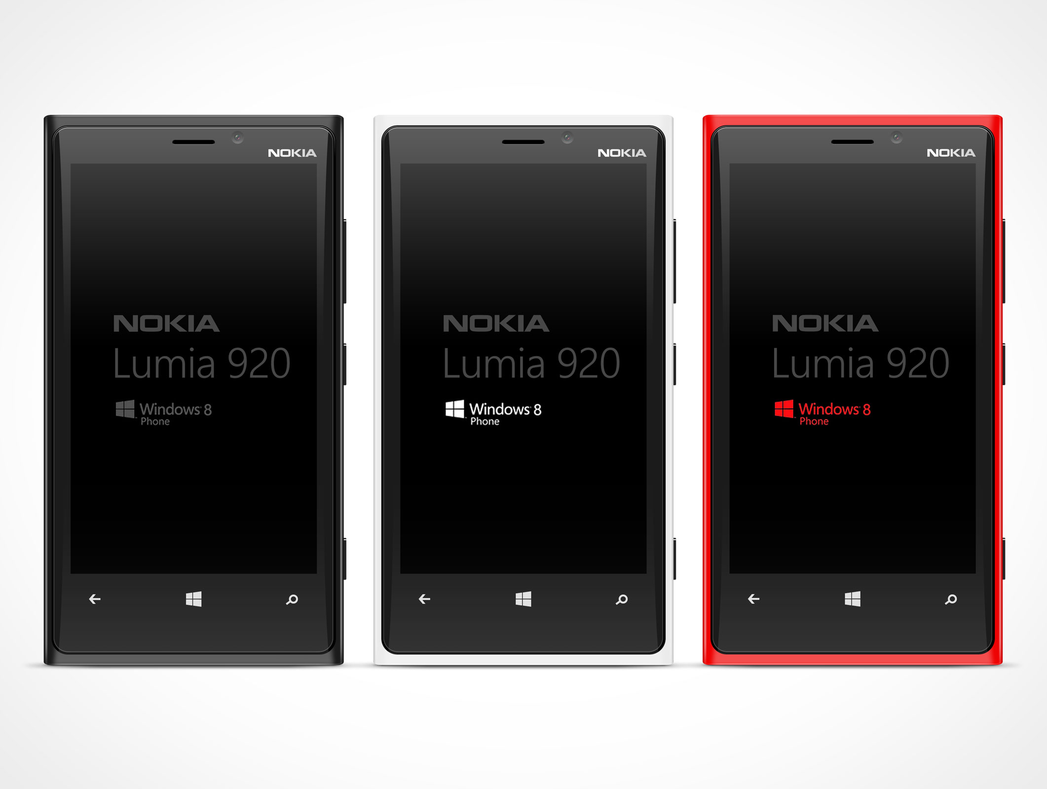 NOKIA Lumina PSD Mockup Template Windows Metro Smartphone