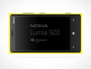 NOKIA Lumina Horizontal PSD Mockup Template Windows Metro Smartphone