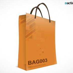 PSD Mockup Template ActionUser Paper Bag
