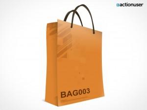 PSD Mockup Template ActionUser Paper Bag