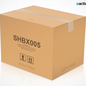 PSD Mockup Template ActionUser Shipping Box