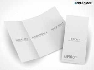 PSD Mockup Template ActionUser Tri-Fold Brochure