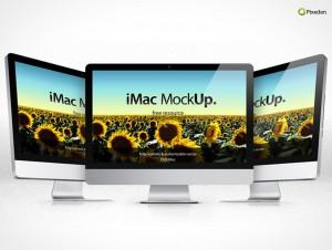 PSD Mockup Template Pixeden Apple iMac Retina