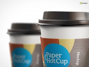 PSD Mockup Template Pixeden Coffee Paper Cup