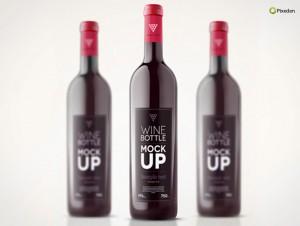 PSD Mockup Template Pixeden Bottle Wine