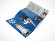 PSD Mockup Template 4 Panel Accordion Flyer Brochure