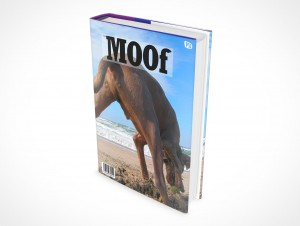 PSD Mockup Hardcover Hardbook Cover Novel