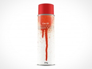 Blank Spray Can Mock-up PSD Cover Action