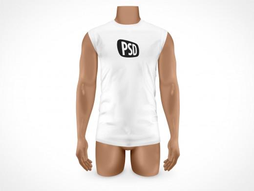 PSD Mock-up T-Shirt Mens White Large