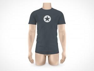 PSD Mock-up T-Shirt Mens Undershirt Large