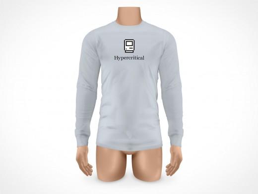 PSD Mock-up Mens Long Sleeve T-Shirt