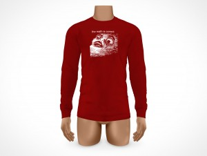 PSD Mock-up Mens Long Sleeve T-Shirt