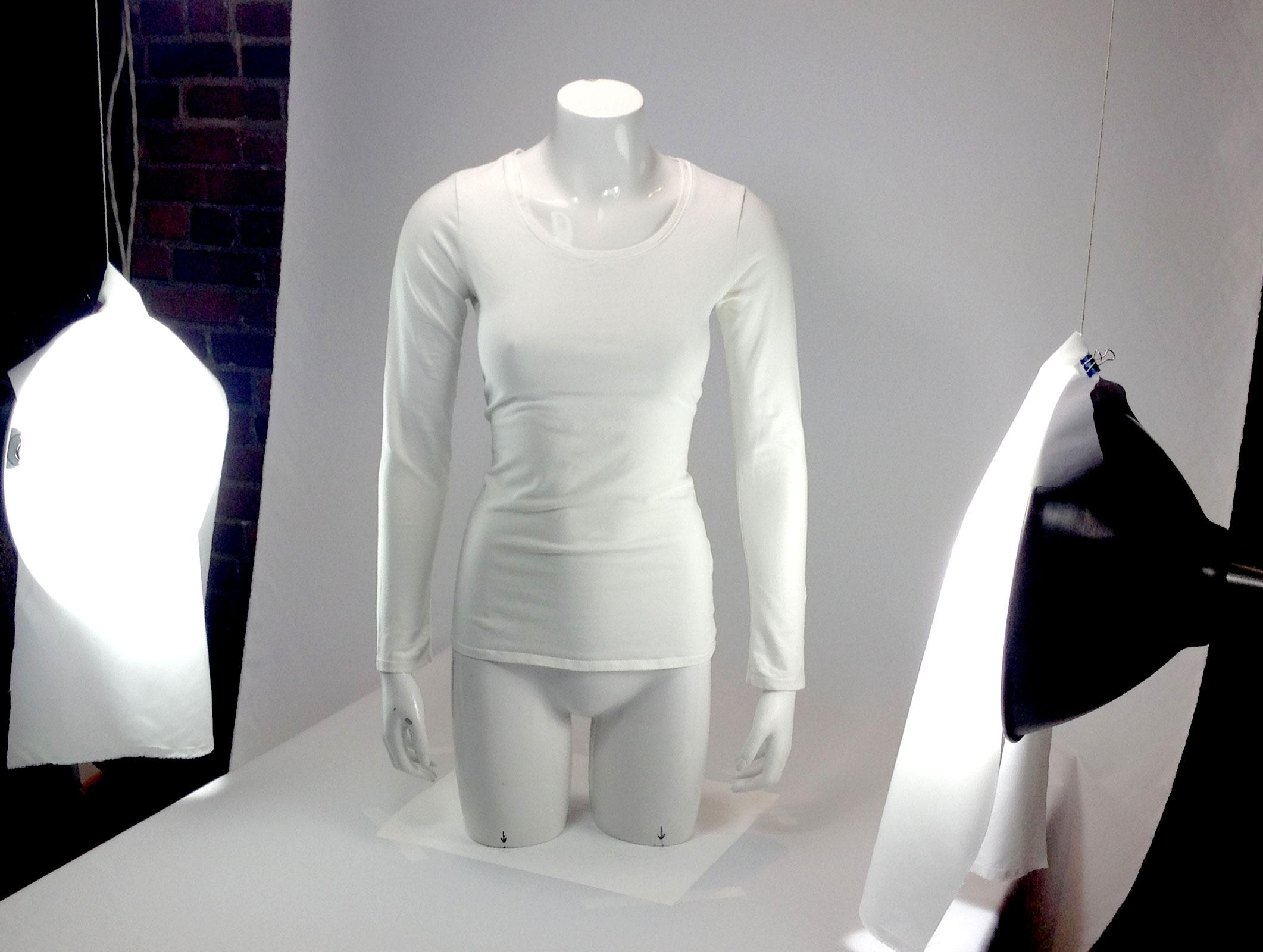 PSD Mock-up T-Shirt Long Sleeve Female Woman