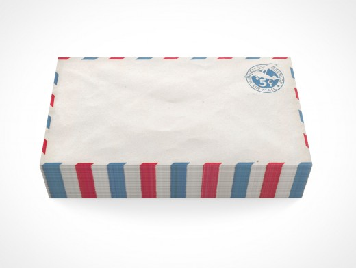 PSD Mock-up standard commercial blank envelope us air mail