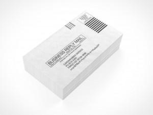PSD Mock-up standard commercial blank envelope bulk mail