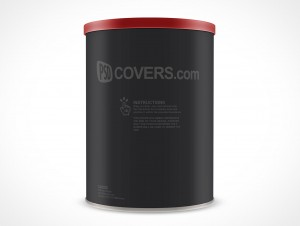 PSD Mock-up Canister Tin Can Container Coffee