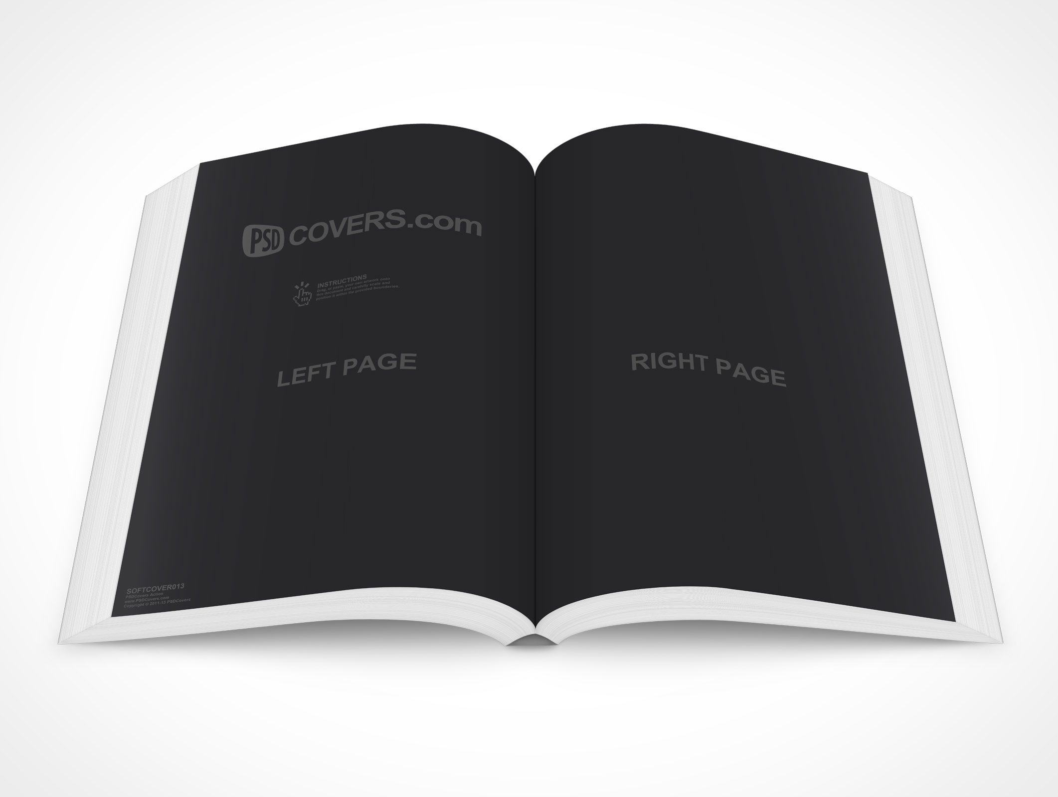 Open Book Cover Template : Softcover market your psd mockups for