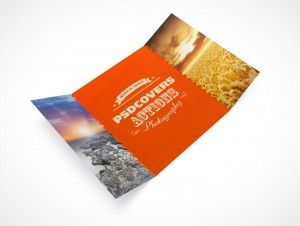 PSD Mockup 3 Panel Gate Fold Brochure Flyer