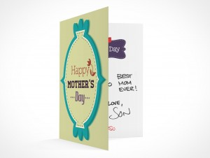 PSD Mockup seasons greeting holiday mothers day card
