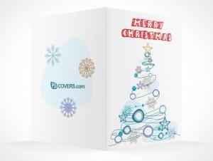 PSD Mockup seasons greeting holiday christmas tree card