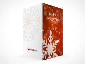 PSD Mockup seasons greeting holiday christmas snowflake card