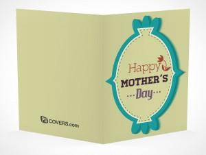 PSD Mockup seasons greeting holiday mothers day card