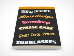 PSD Mockup Notepad Ice Cream Recipes