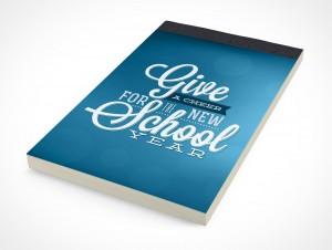 PSD Mockup Notepad School Notebook