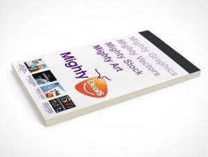 PSD Mockup Notepad Mighty Deals