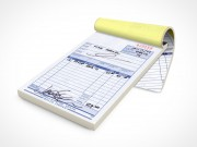 PSD Mockup Notepad Staples Sales Receipts