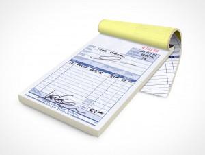 PSD Mockup Notepad Staples Sales Receipts